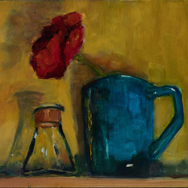 Blue Pitcher–Sold