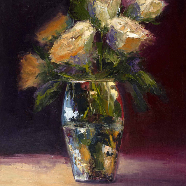 A Touch of Glass & Roses–Sold