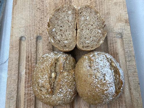 3-5 オーツ麦と大麦の小型パン