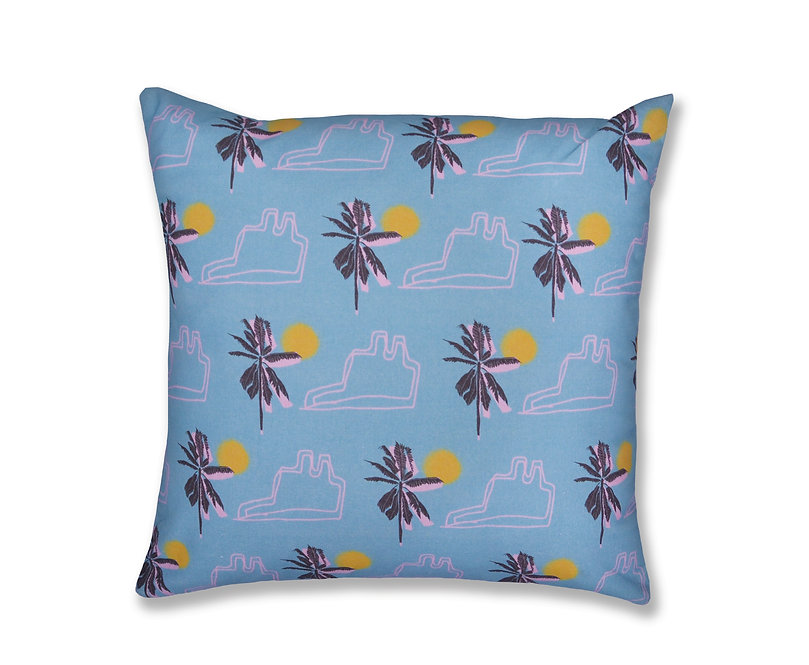 Limited Edition Blue Cotton Cushion - Homewares - CHILDSDRAW - London