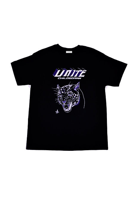 'Unite' Cotton Unisex Black T-Shirt - CHILDSDRAW - Made in SE London