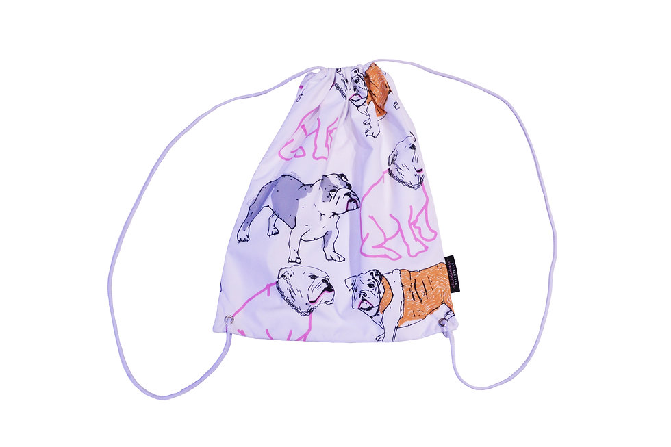 Limited Edition Dog Animal Print Drawstring Carry Bag - CHILDSDRAW - Made in London