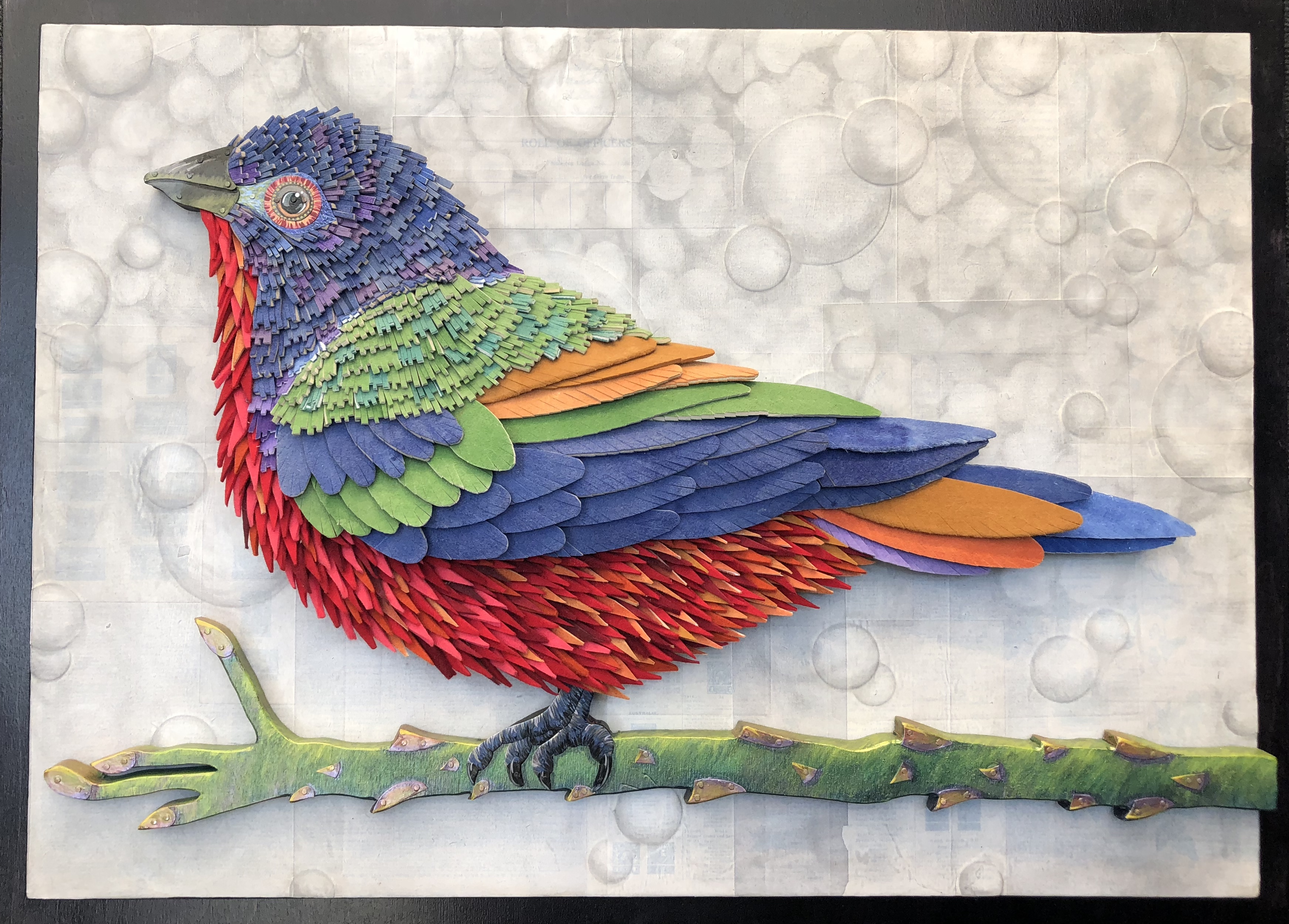 Painted Bunting Background