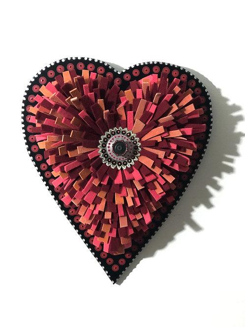 Caliente Red Felt Heart