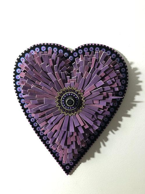 Purple Haze Felt Heart
