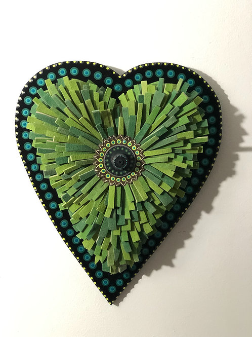 Green Day Felt Heart
