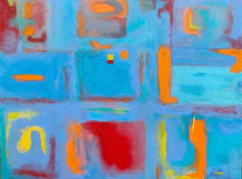 """Color Play 36X48"""" acrylic"""