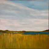 """Pocomo Salt Marsh, 20X20"""", oil"""