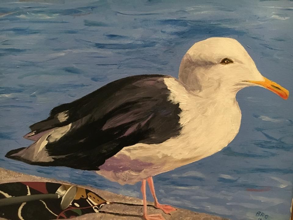 """Dr. Seagull,16X20"""", mixed"""