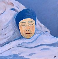 """Mami Sleeping 16X16"""", acrylic"""