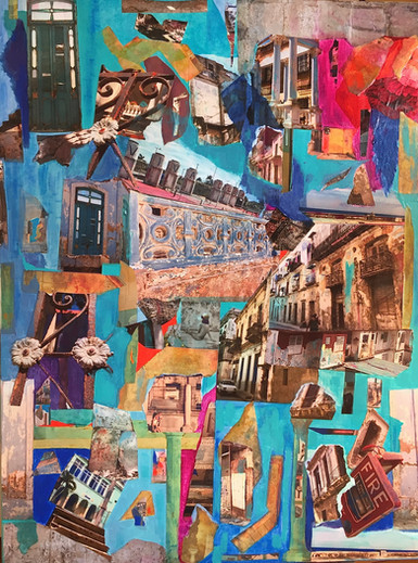 "Viva Cuba: Havana Stories 30X40"", mixed media"