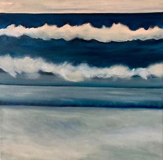 "South Shore Waves Nantucket, 20X20"" oil"