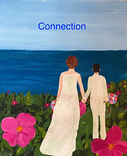 Clara and Rebecca's Sconset Wedding, mixed media gift