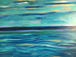 nantucket dusk ocean #3(30X40)