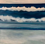 """South Shore waves, 20X20"""", oil"""