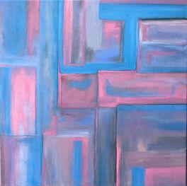 "Integration #1 16X16"" acrylic abstract"