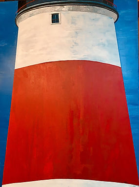 Big Red - Sankaty Light House, 36X48, acrylic
