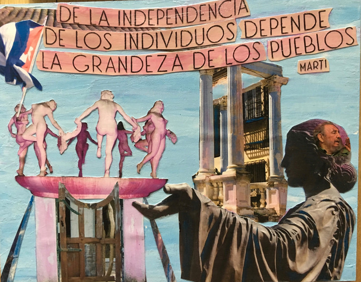 "Independencia Farce 14X11"", mixed media"