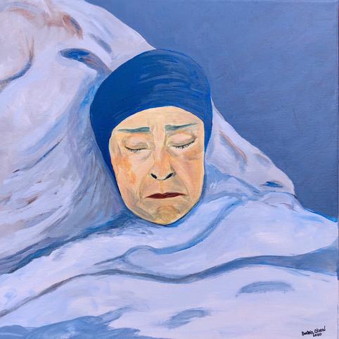 """Mami Sleeping 16X16""""acrylic"""