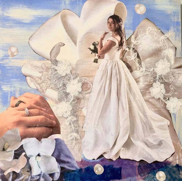 """bride's dream 12X12"""" mixed media"""