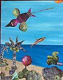 """Sea Salad 16X20"""", mixed media"""