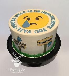 good bye cake emoji