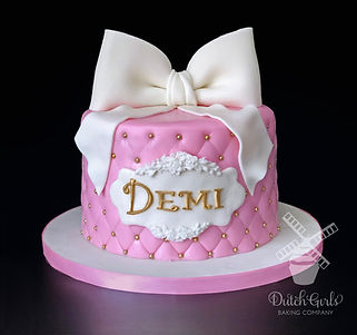tufted birthday cake