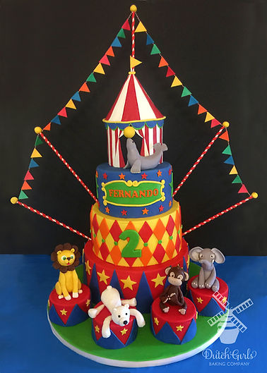 BIG circus birthday cake