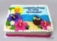 modesto beach retirement cake