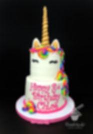 Rainbow unicorn birthday cake, modesto birthday cake