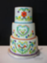 Mexican Embroidered Engagement Cake