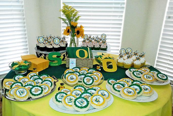 University of Oregon cupcakes cookies