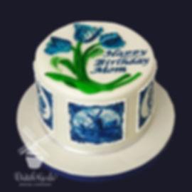 dutch tulips birthday cake