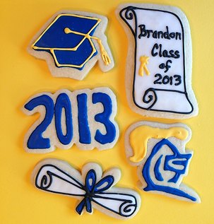 Modesto Graduation cookies
