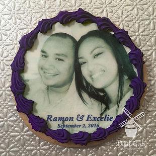 Edible image Wedding cookie