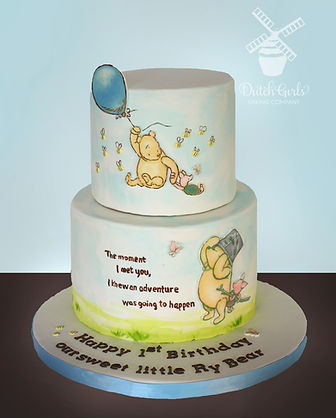 Pooh First Birthday Cake