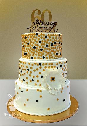 60th anniversary cake