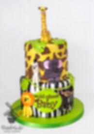 wild about baby safari animal cake