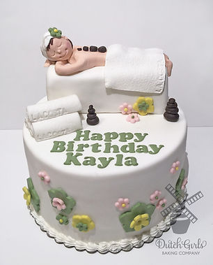 spa birthday cake