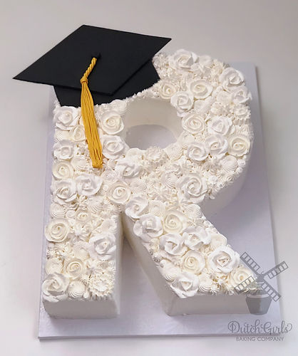 monogram graduation cake