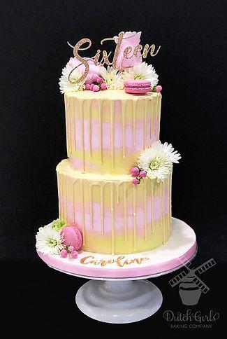sweet 16 drip cake