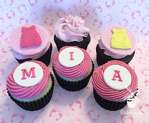 baby shower cupccakes