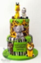 zoo animals cake