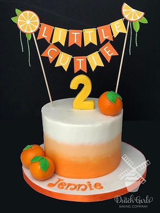 little cutie birthday cake