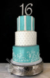 Tiffany Sweet 16 Birthday Cake