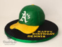 Oakland A's Baseball hat cake