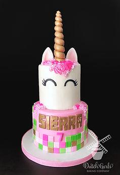 minecraft unicorn birthday cake