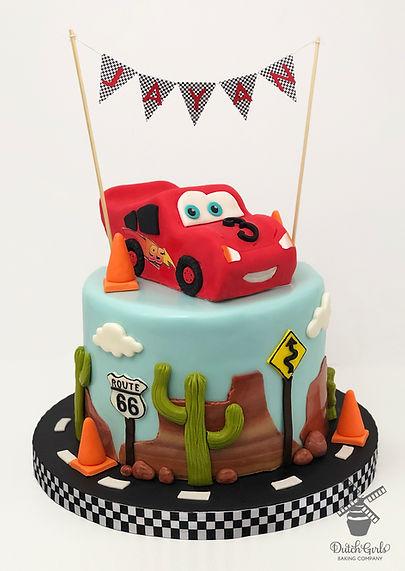 Lightning McQueen Cars Birthday Cake
