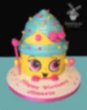queen cupcake cake