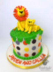 zoo jungle modesto lion birthday cake